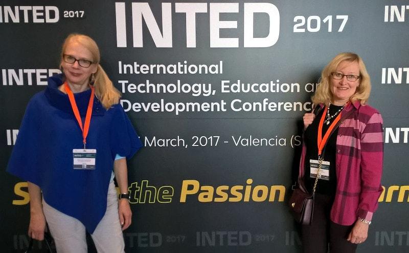 Anna-Liisa ja Sari INTED 2017 -tapahtumassa